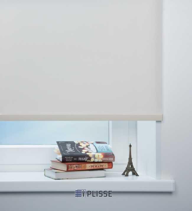 Рулонная штора Скрин 5% Бело-бежевый